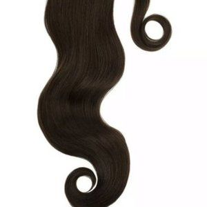 GLAM SEAMLESS dark brown ponytail clip extensions